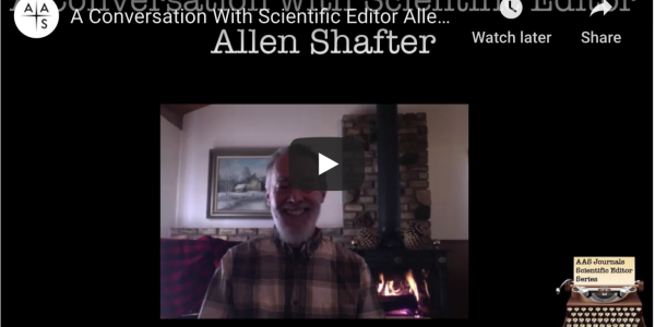 SDSU Astronomy Prof. Allen Shafter is interviewed on his experience as a scientific editor of the American Astronomical Society Journals