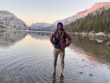 Graduate student Alex Dimhoff enjoys the outdoors